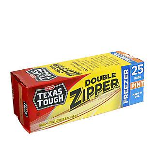 H-E-B Texas Tough Double Zipper Pint Freezer Bags,25 CT