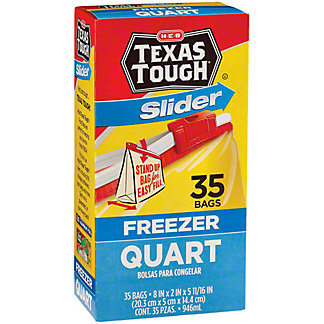 H-E-B Slider Quart Size Freezer Bags,35.00 ea