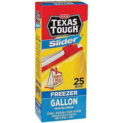 H-E-B Texas Tough Slider Gallon Size Freezer Bags,25.00 ea