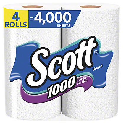 Scott 1000 Sheet Bath Tissue, 4 ct