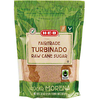 H-E-B Fair Trade Turbinado Raw Cane Surgar,32 OZ