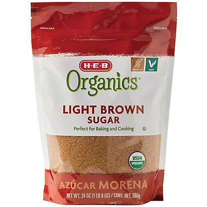 H-E-B Organics Light Brown Sugar,24 OZ