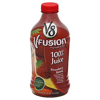 V8 V-Fusion Vegetable and Fruit Strawberry Banana 100% Juice, 46 oz