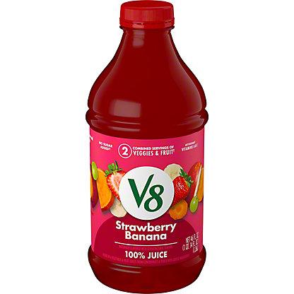 V8 V-Fusion Vegetable and Fruit Strawberry Banana 100% Juice, 46 oz