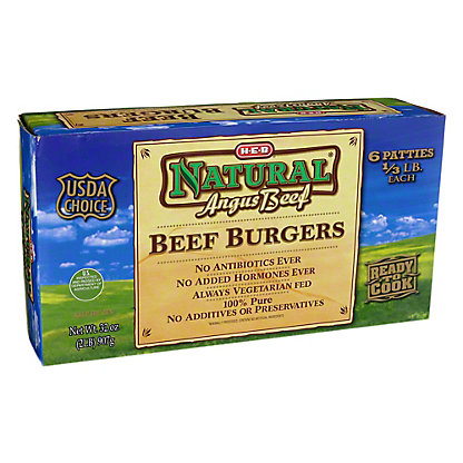 H-E-B Angus Beef Beef Patties,32 oz