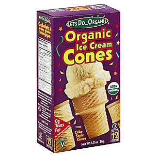 Let's Do ... Organic Ice Cream Cones, 12 ct