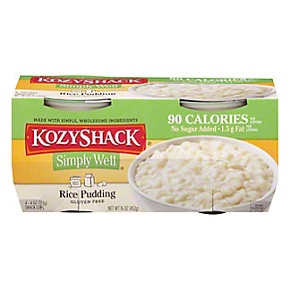 Kozy Shack Simply Well No Sugar Added Rice Pudding,4 CT