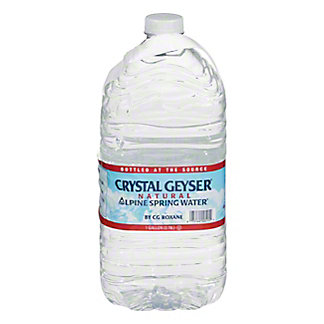 Crystal Geyser Alpine Spring Natural Water, 1 gal