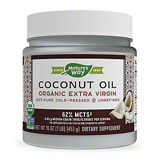 Nature's Way Efa Gold Organic Pure Extra Virgin Coconut Oil, 16 oz