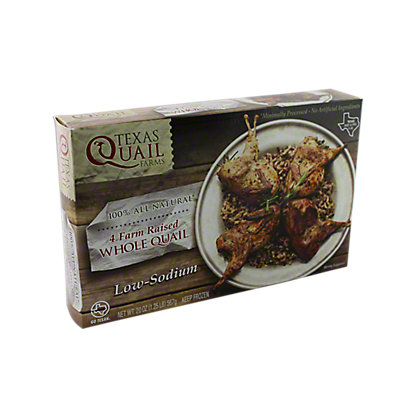 Texas Quail Farms Whole Quail, Farm Raised, 20 oz