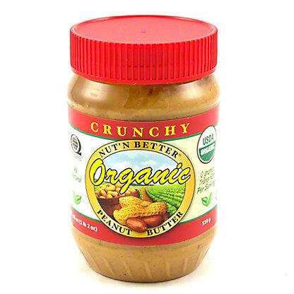 Nut' N Better Organic Crunchy Peanut Butter,18 OZ