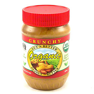 Nut' N Better Organic Crunchy Peanut Butter,18 OZ