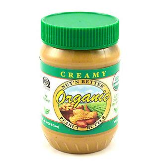 Nut' N Better Organic Creamy Peanut Butter,18 OZ