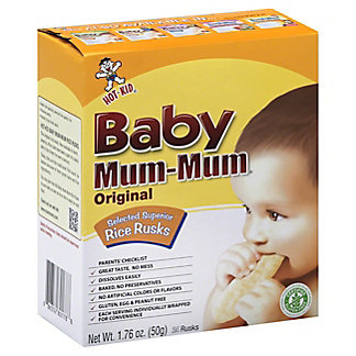 Hot Kid Baby Mum-Mum Selected Superior Original Rice Rusks,1.76 OZ