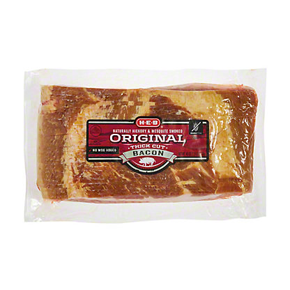 H-E-B Premium Thick Cut Family Pack Bacon, 40 oz