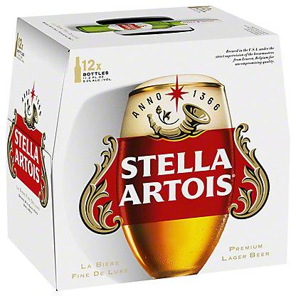 Stella Artois Premium Lager 11.2 oz Bottles, 12 pk