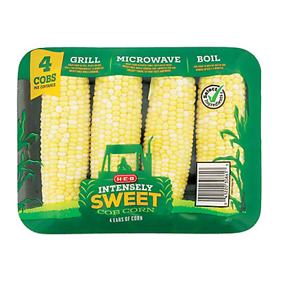 H-E-B H-E-B Fresh Bi-Color Intensely Sweet Corn,4 CT