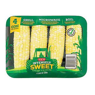 H-E-B H-E-B Fresh Bi-Color Intensely Sweet Corn,4 CT