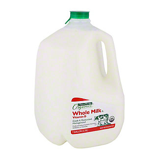 Central Market Organics Vitamin D Whole Milk, 1 gal