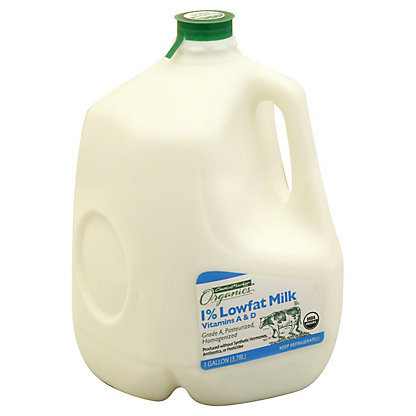 Central Market Organics Vitamins A & D Low Fat 1% Milkfat Milk, 1 gal
