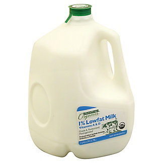 Central Market Organics Vitamins A & D Low Fat 1% Milkfat Milk, 1 gal