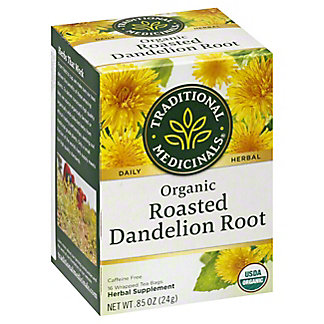 Traditional Medicinals Organic Roasted Dandelion Root Herbal Tea Bags, 16 ea