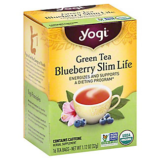 Yogi Yogi Blueberry Slim Life Green Tea Bags,16 ct