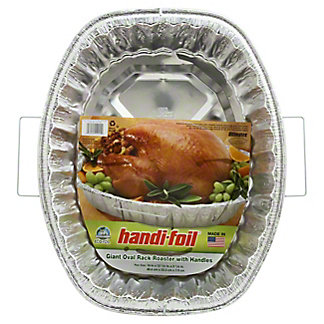 Handi-Foil Ultimates Giant Oval Rack Roaster With Handles,EACH