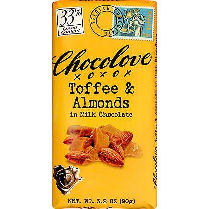 Chocolove Coffee Almond Milk Chocolate, 3.2 oz