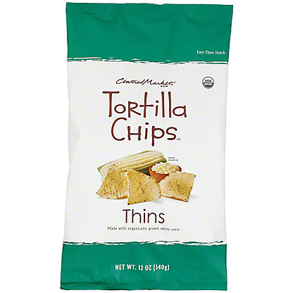 Central Market Organics Thin Tortilla Chips Salted, 12 oz