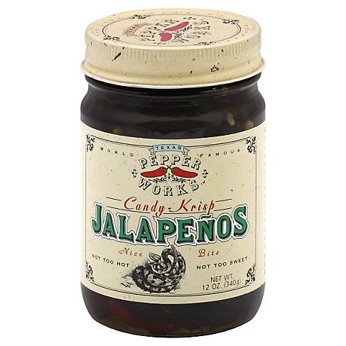 Texas Pepper Works Candy-Krisp Jalapenos, 12 OZ