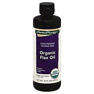 Central Market 100% Organic Flax Oil, 16 oz