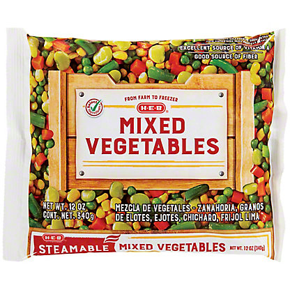 H-E-B Steamable Mixed Vegetables,12 oz