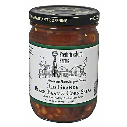 Fredericksburg Farms Rio Grande Black Bean Corn Salsa,12 OZ