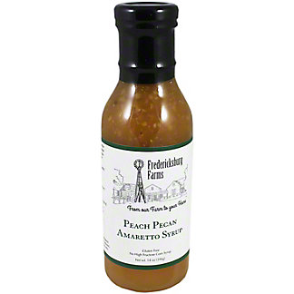 Fredericksburg Farms Peach Pecan Amaretto Syrup, 14 OZ