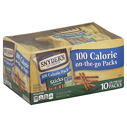 Snyder's of Hanover 100 Calorie Pack Stick Pretzels,10 CT