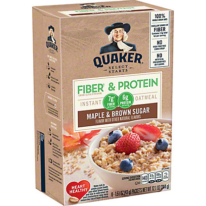 Quaker Weight Control Maple and Brown Sugar Instant Oatmeal Packets, 1.58 oz - 8 pk