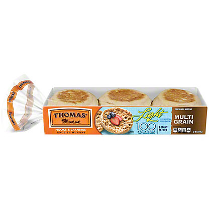 Thomas' Light Multi-grain Muffins, 6 ct
