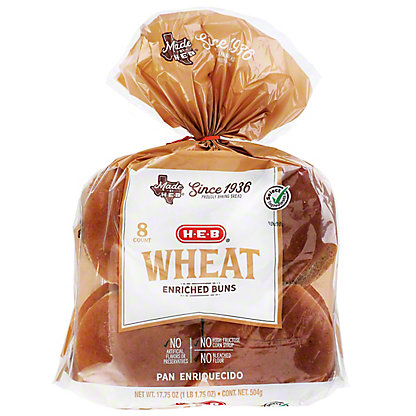 H-E-B Bake Shop Wheat Hamburger Buns,8.00 ea