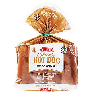 H-E-B Bake Shop Wheat Hot Dog Buns,8.00 ea