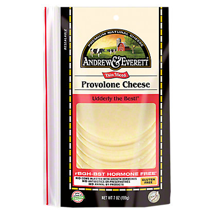 Andrew & Everett Provolone Cheese Slices, 7 OZ
