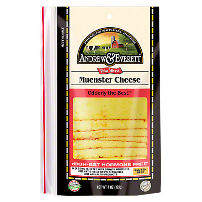 Andrew & Everett Muenster Cheese Slices,7 OZ