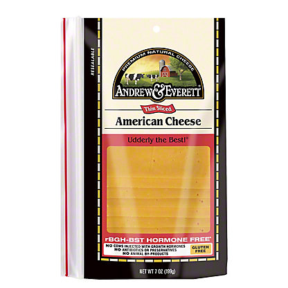 Andrew & Everett American Cheee Slices, 7 OZ