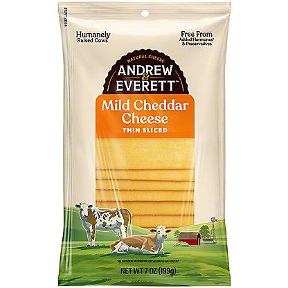 Andrew & Everett Mild Cheddar Cheese Slices, 7 OZ
