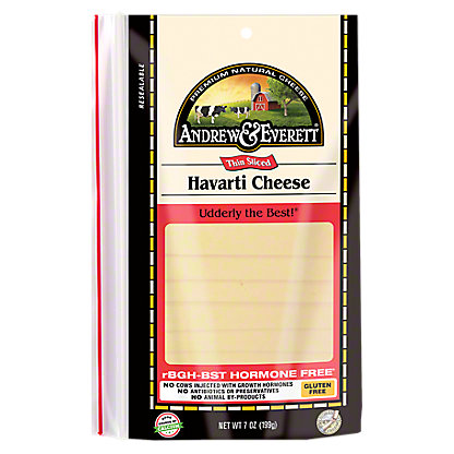 Andrew & Everett Havarti Cheese Slices, 7 OZ
