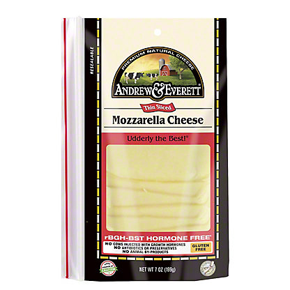 Andrew & Everett Mozzarella Cheese Slices,7 OZ