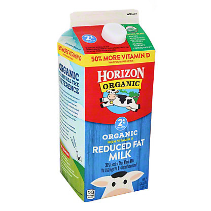 Horizon Organic Reduced Fat 2% Milk, 1/2 gal
