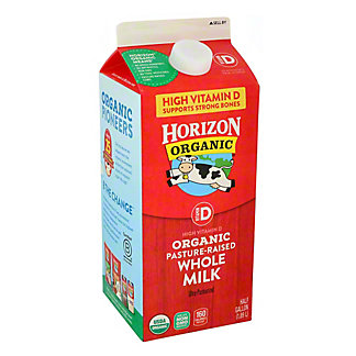 Horizon Organic Vitamin D Whole Milk, 1/2 gal