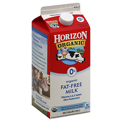 Horizon Organic Fat-free 0% Milk, 1/2 gal