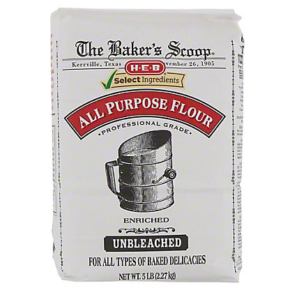 H-E-B Select Ingredients Baker's Scoop All Purpose Flour,5 LBS